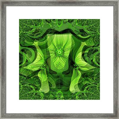 481 - Magic Goblet And  Butterflies Framed Print by Irmgard Schoendorf Welch