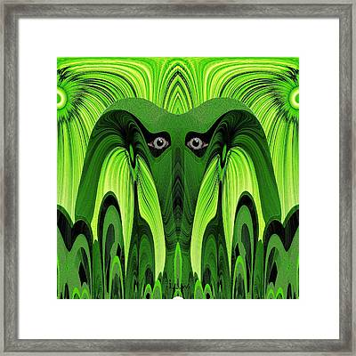 482 - Green Ghost Of The Woods Framed Print by Irmgard Schoendorf Welch