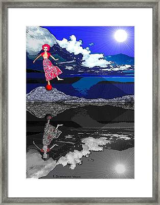 483 - Crucial  Dance Of Life Framed Print by Irmgard Schoendorf Welch
