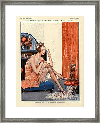 1920s France La Vie Parisienne Magazine Framed Print by The Advertising Archives