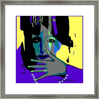 488 - A Green Eyed Woman  Framed Print by Irmgard Schoendorf Welch