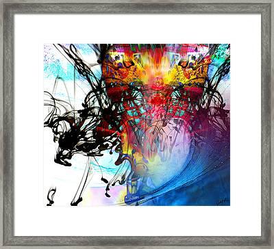 48x41 The Scream 2012 Blue Ocean Wave - - Signed Art Abstract Paintings Modern Www.splashyartist.com Framed Print