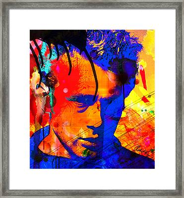48x43 James Dean Hollywood Star - Huge Signed Art Abstract Paintings Modern Www.splashyartist.com Framed Print