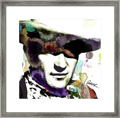 48x46 Huge John Wayne - Signed Art Abstract Paintings Modern Www.splashyartist.com Framed Print