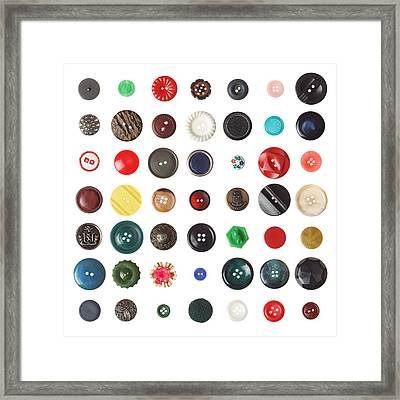 49 Buttons Framed Print by Jim Hughes