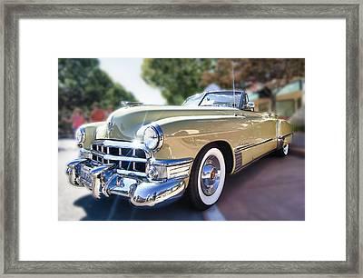 49 Cadillac Convertible Framed Print by Robert Rus