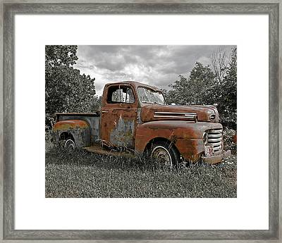 Framed Print featuring the photograph '49 Ford Pick-up by Christopher McKenzie