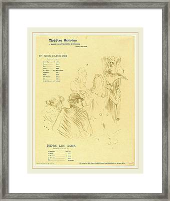 Henri De Toulouse-lautrec French, 1864-1901 Framed Print