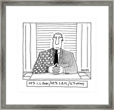 49% L.l. Bean/49% I.b.m./ 2% Whimsy Framed Print