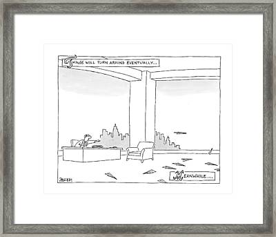 New Yorker June 29th, 2009 Framed Print by Jack Ziegler