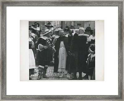 In Honor Of Inventor Bernhart Schmidt Framed Print by Retro Images Archive