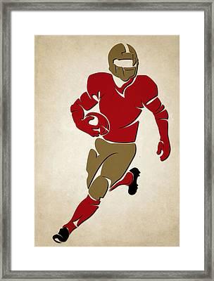 49ers Shadow Player Framed Print by Joe Hamilton