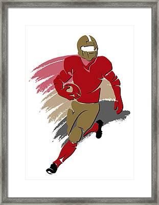 49ers Shadow Player2 Framed Print by Joe Hamilton