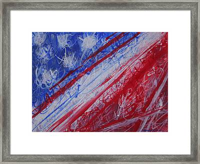 4th July Abstract Expressionism Framed Print by Thomas Griffith