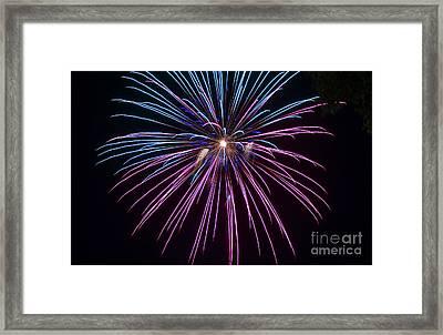 4th Of July 2014 Fireworks Bridgeport Hill Clarksburg Wv 1 Framed Print by Howard Tenke