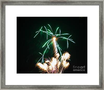 4th Of July 2014 Fireworks Bridgeport Hill Clarksburg Wv 2 Framed Print by Howard Tenke