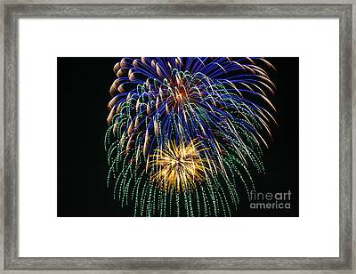 4th Of July 2014 Fireworks Mannington Wv 1 Framed Print by Howard Tenke