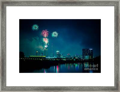 4th Of July At Indianapolis Framed Print by Jose Sanchez
