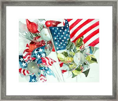 4th Of July Framed Print by Elizabeth  McRorie