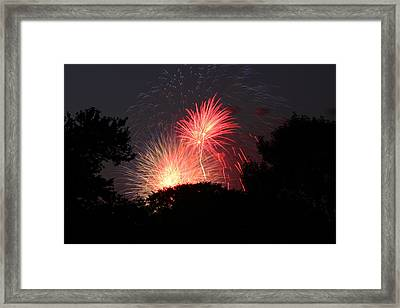 4th Of July Fireworks - 01131 Framed Print by DC Photographer