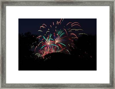 4th Of July Fireworks - 011310 Framed Print by DC Photographer