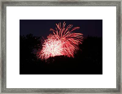 4th Of July Fireworks - 011311 Framed Print by DC Photographer