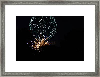 4th Of July Fireworks - 011330 Framed Print by DC Photographer