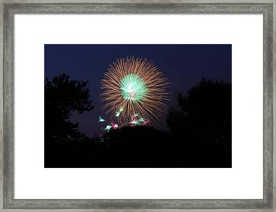4th Of July Fireworks - 01134 Framed Print by DC Photographer