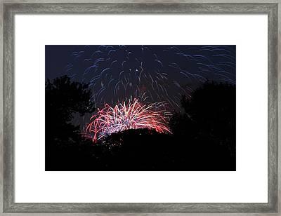 4th Of July Fireworks - 01135 Framed Print