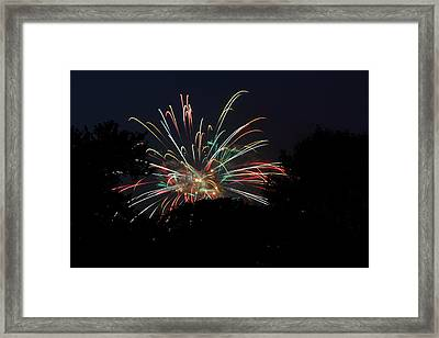 4th Of July Fireworks - 01139 Framed Print