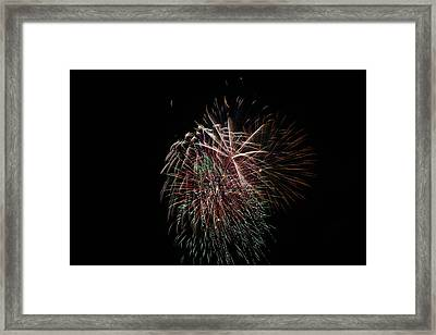 4th Of July Fireworks Framed Print by Alan Hutchins