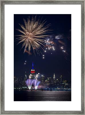 4th Of July Fireworks Framed Print by Eduard Moldoveanu