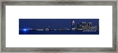 4th Of July Flotilla On The Hudson Framed Print by Lilliana Mendez