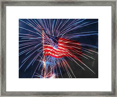 4th Of July Framed Print by Heidi Smith