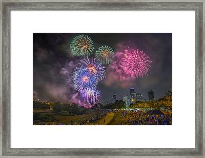 4th Of July In Houston Texas Framed Print