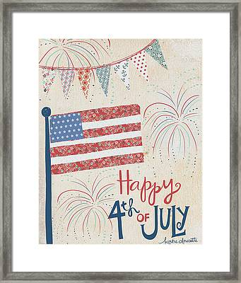 4th Of July Framed Print by Katie Doucette