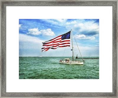 Framed Print featuring the photograph 4th Of July - Navy Pier - Downtown Chicago by Photography  By Sai