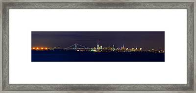 4th Of July New York City Framed Print by Raymond Salani III