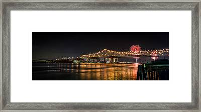 4th Of July Over The Big Easy Part Deaux Framed Print by David Morefield