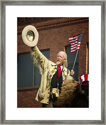 4th Of July With Buffalo Bill Framed Print by Elaine Haberland