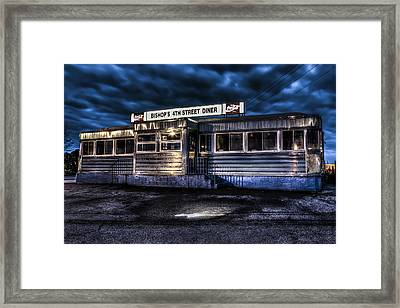 4th Street Diner Framed Print by Andrew Pacheco