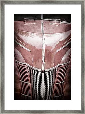 1940 Ford Deluxe Coupe Grille Framed Print by Jill Reger
