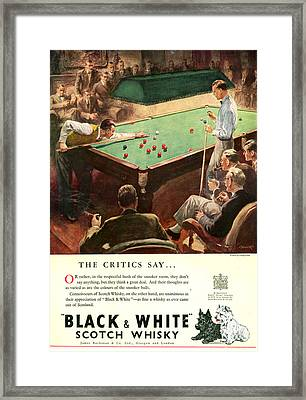 1940s Uk Black And White Magazine Advert Framed Print by The Advertising Archives