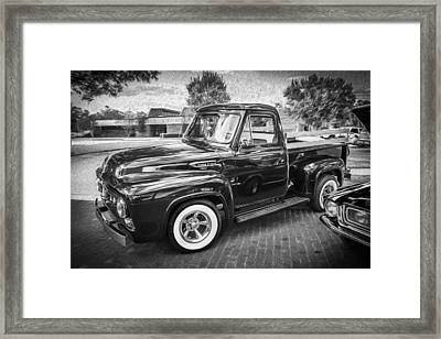 1953 Ford F100 Pickup Truck Bw  Framed Print by Rich Franco