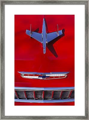 1955 Chevrolet Belair Nomad Hood Ornament Framed Print