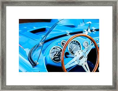 1959 Devin Ss Steering Wheel Framed Print by Jill Reger