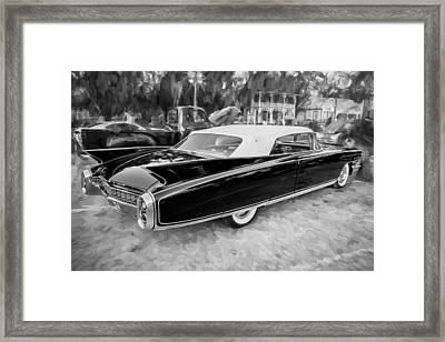 1960 Cadillac Eldorado Biarritz Convertible Painted Bw  Framed Print by Rich Franco