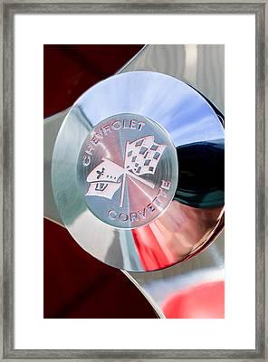 1960 Chevrolet Corvette Steering Wheel Emblem Framed Print