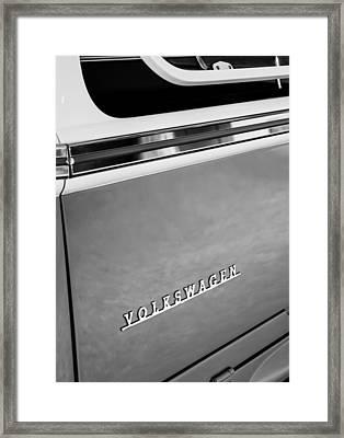 1964 Volkswagen Vw Samba 21 Window Bus Emblem Framed Print