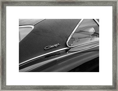 1969 Dodge Charger R-t Side Emblem Framed Print